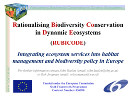Integrating ecosystem services and biodiversity
