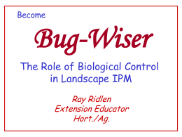 Bugwiser powerpoint - Family and Consumer Science