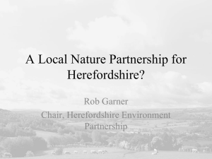 An LNP for Herefordshire? - Rob Garner & Bill Bloxsome