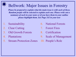 APES Unit 08 - Part II - Forestry, Fishing and More PowerPoint