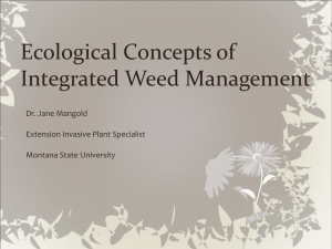 Ecological Concepts of Integrated Weed