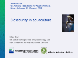 Biosecurity in Aquaculture - RR-Middleeast