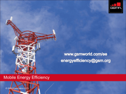 Mobile Networks: Energy Efficiency Benchmarking KPIs