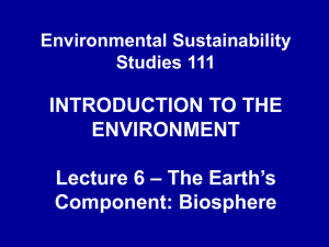 ESS111- Lecture6 - University of the Western Cape