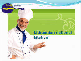 Lithuanian kitchen
