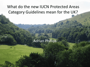 What do the new IUCN Protected Areas Category