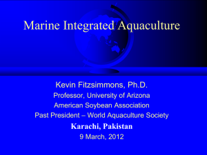 Tilapia Aquaculture - University of Arizona