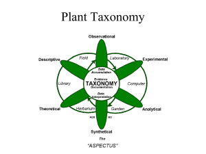 Development of Plant Taxonomy and Taxonomic Characters