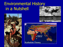 Overview of Human Impacts and History