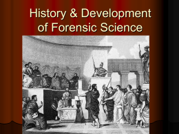 Forensics – Chapters 1-3 Study Guide Helpers