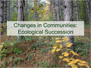 Ecological Succession notes and worksheet