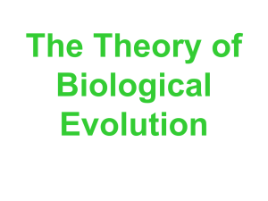 The Six Main Points of Darwin`s Theory of Evolution
