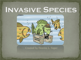 Invasive Species PowerPoint - Ithaca City School District