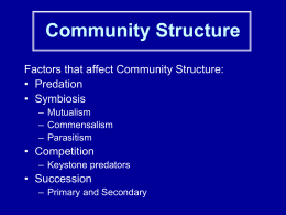 Communities notes Bio1 2013