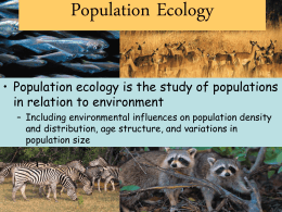 Population Ecology - Jackson County Schools