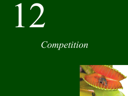 Competition - practical ecology