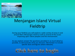 Menjangan Island fieldtrip Power Point presentation
