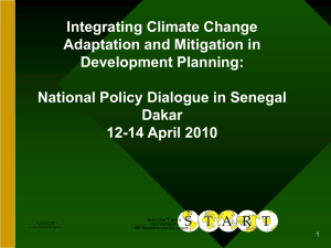 Integrating Climate Change Adaptation and