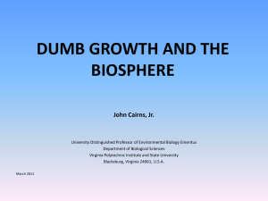 Dumb Growth and the Biosphere