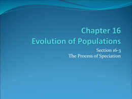 16-3 The Process of Speciation