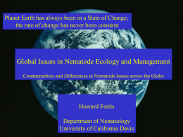 Global Issues in Nematode Ecology and Management