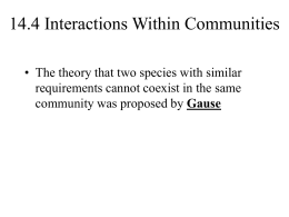 14.4 Interactions Within Communities