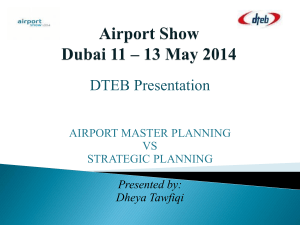 Airport Master Planning VS Strategic Planning