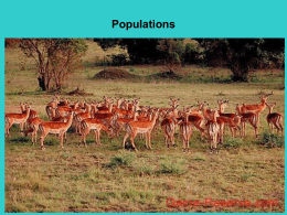 Chapter 5: Populations
