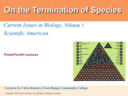 On the Termination of Species