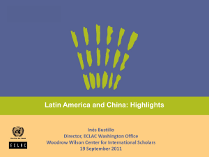 Inés Bustillo Presentation - Woodrow Wilson International Center for