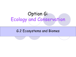 G.2 Ecosystems and biomes