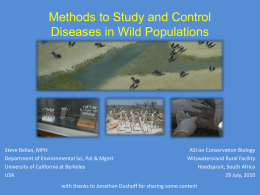 Disease Ecology Methods