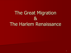 The Great Migration - Hickman Mills C