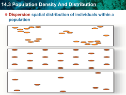 14.3 Population Density And Distribution