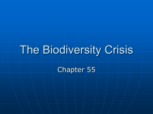 The Biodiversity Crisis - Tuscaloosa County High School
