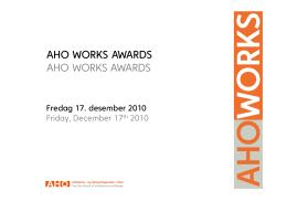 Nominerte/prisvinnere høst 2010 - Arkitektur