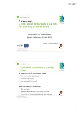 E-mapping: Green-space experience as a tool space experience as