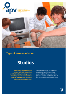 Studios - Accommodation Portal Vlissingen