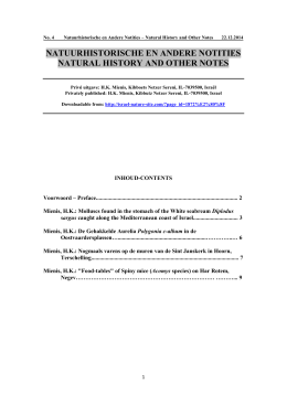 natuurhistorische en andere notities natural history and other notes