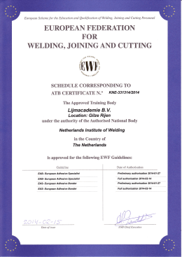 WELDING, JOINING AND CUTTING f,0lryI,