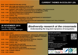 Biodiversity research at the crossroads