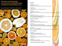 AGRUMED: the History and Archaeology of citrus fruits in the