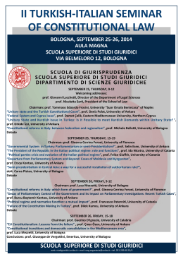 ii turkish-italian seminar of constitutional law scuola