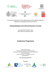 Linking Biological and Cultural Diversity in Europe