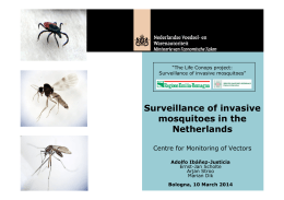 Surveillance of invasive mosquitoes in the Netherlands