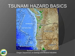 Tsunami Hazard Basics - Oregon Department of Geology and