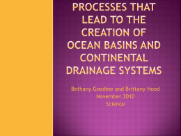OCEAn basins and continental drainage systems.