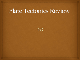 plate tectonic essay