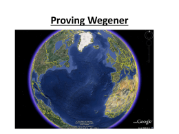 Proving Wegener - Uplift Community High School