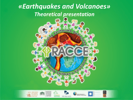 Earthquakes and volcanoes theory - racce